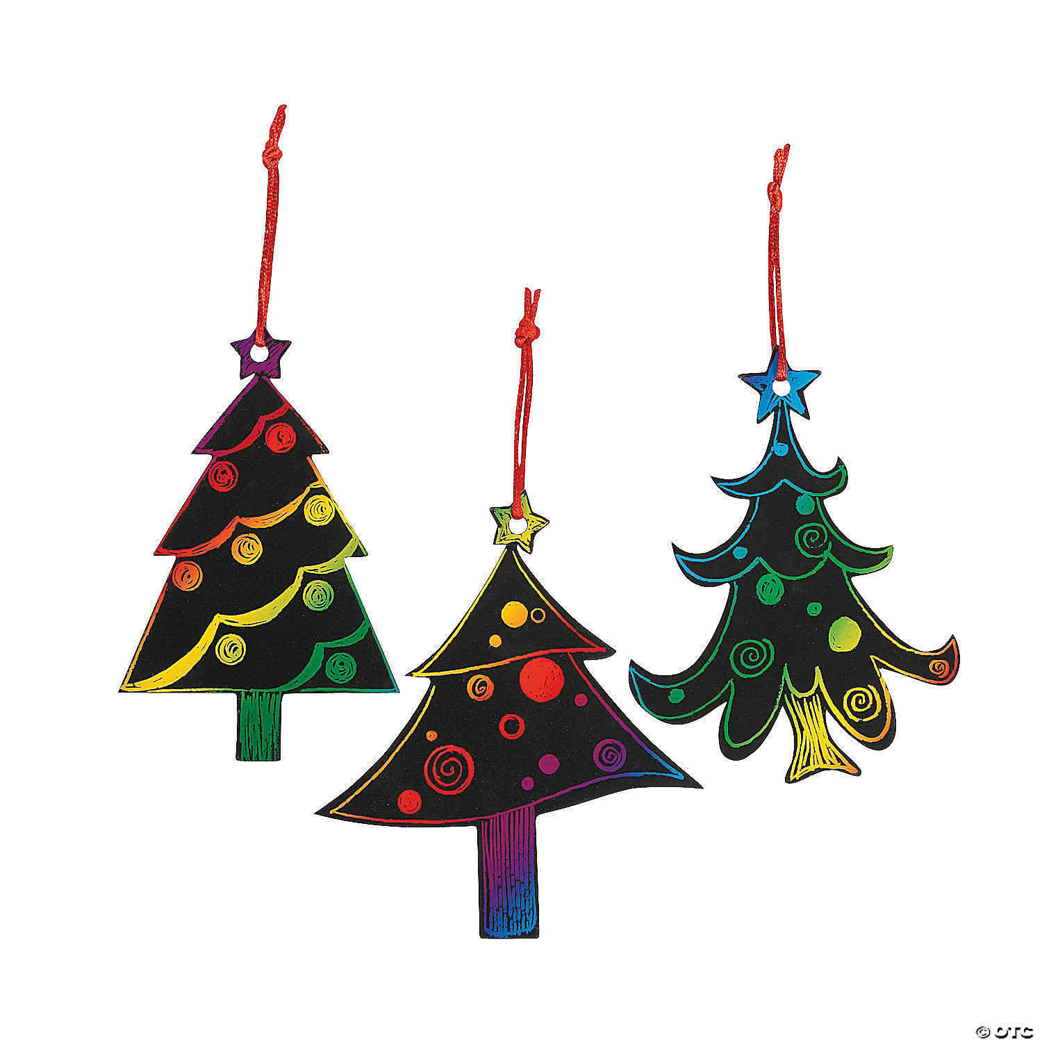Magic Color Scratch Christmas Tree Ornaments Oriental Trading