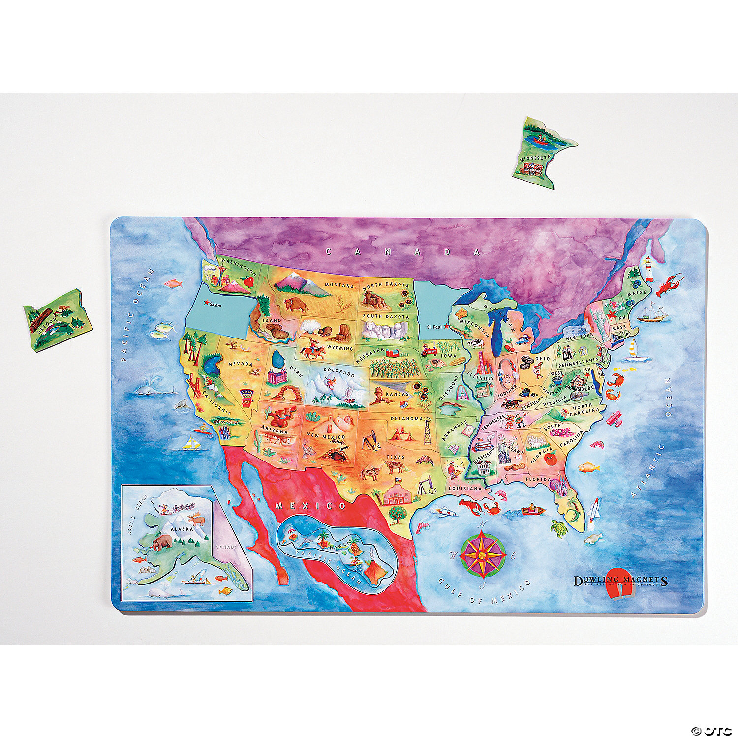 Magnetic USA Map Puzzle | Mindware