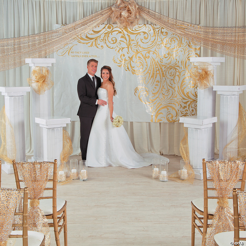 6 Feet Black Look Fluted 2 Set Columns Wedding Party Decoration