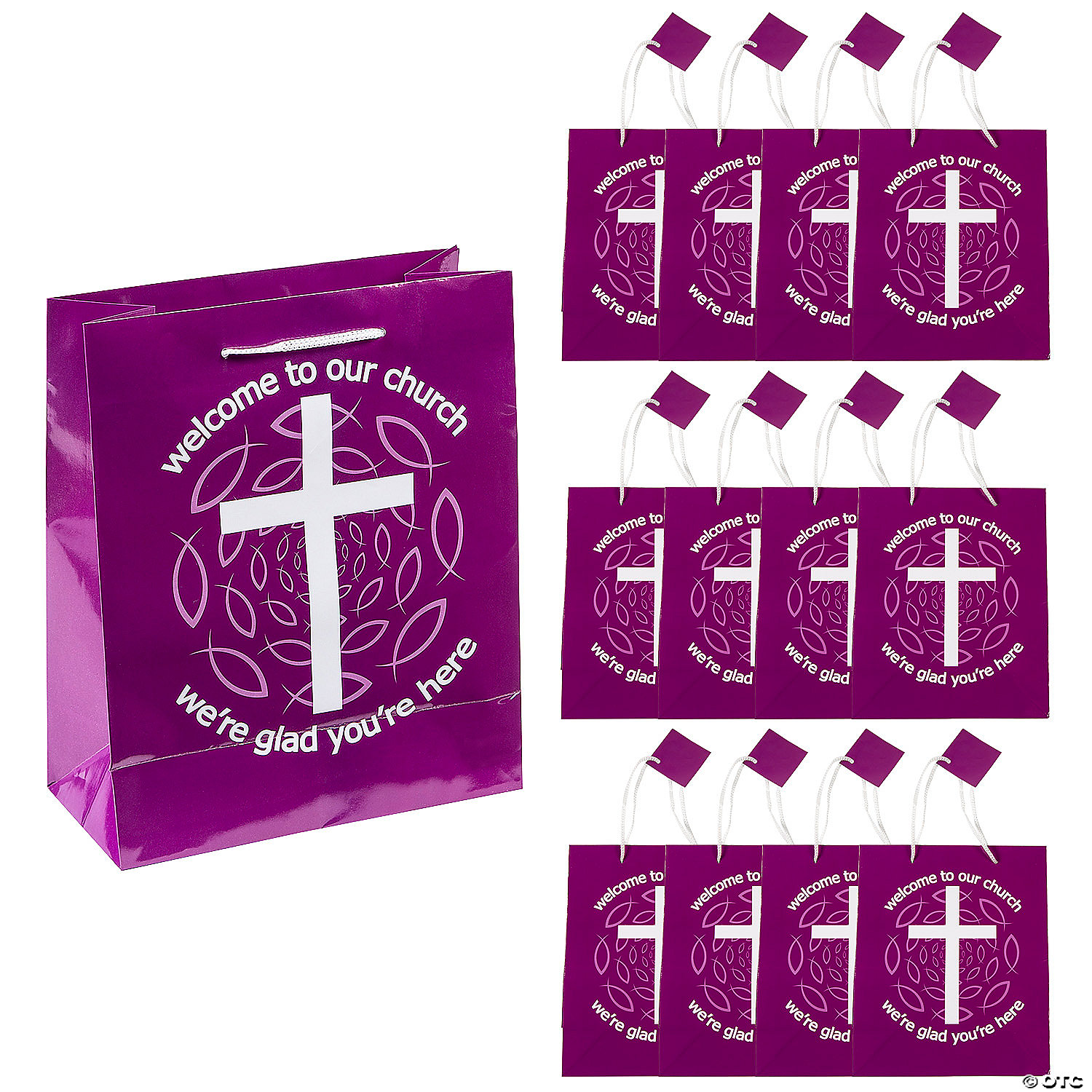 medium-purple-welcome-to-our-church-gift-bags  sc 1 st  Oriental Trading & Medium Purple Welcome To Our Church Gift Bags | Oriental Trading
