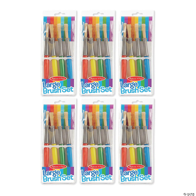 Green Yellow Melissa /& Doug Jumbo Brush Set Paintbrushes in Red Blue 4-Pack
