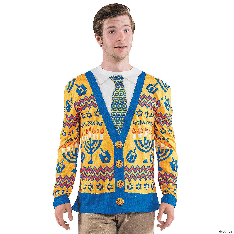 Tacky Christmas Sweater.Men S Ugly Hanukkah Sweater T Shirt Costume