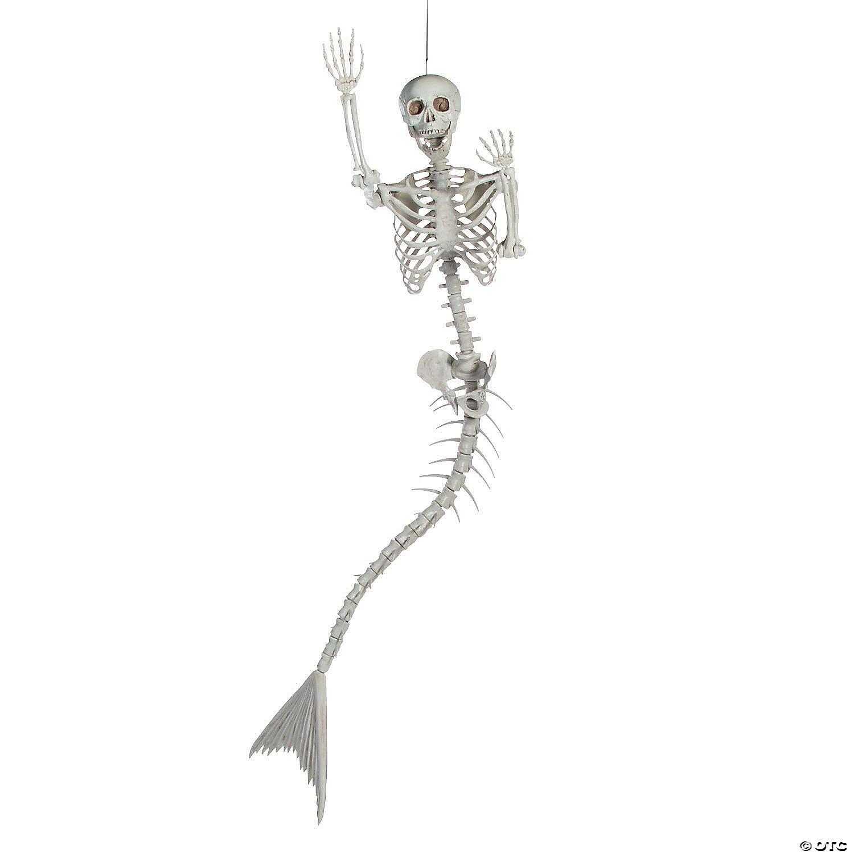 mermaid life size skeleton halloween decoration