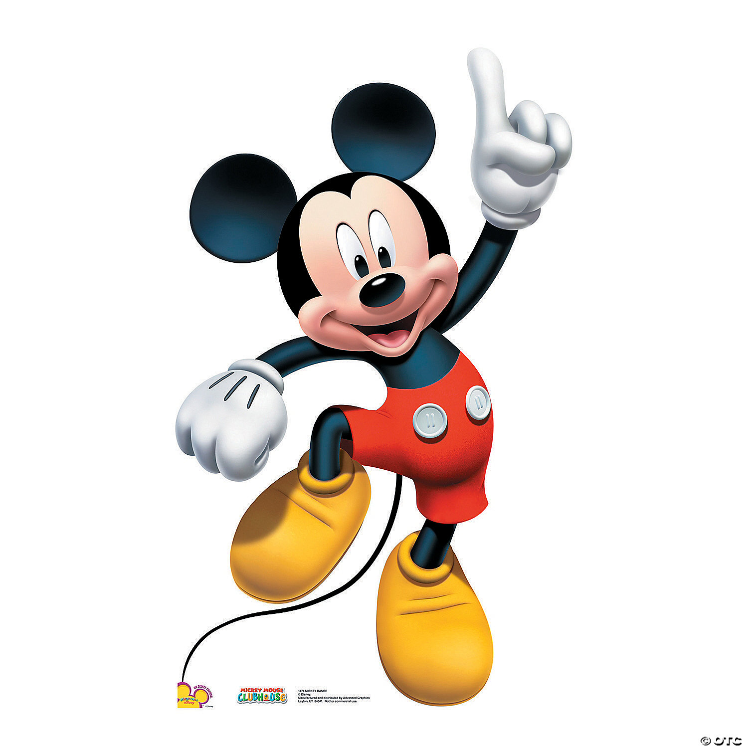 Mickey Mouse Dance Cardboard Stand Up Oriental Trading