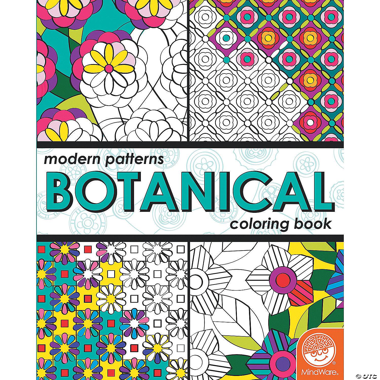 Modern Patterns Botanical Coloring Book