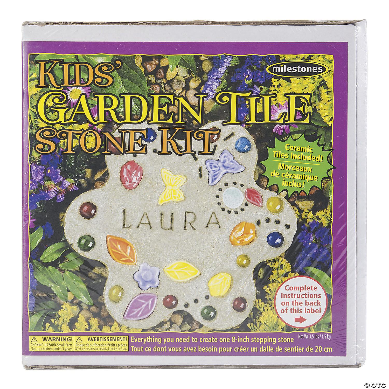 Mosaic Stepping Stone Kit Kids' Garden   Oriental Trading