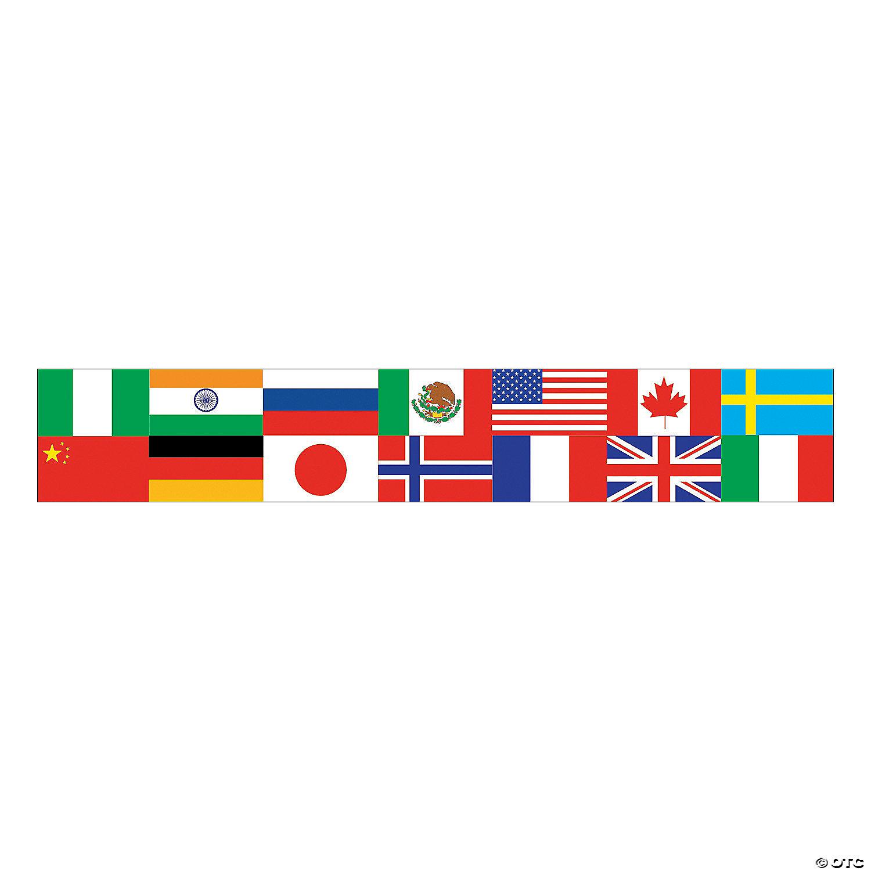 Multicultural Flag Pencils