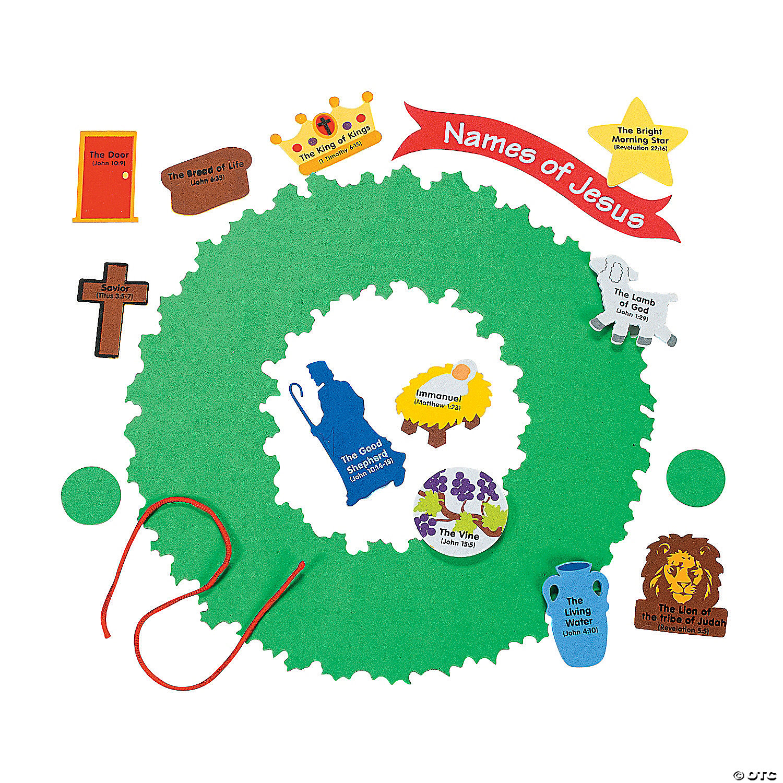 Names Of Jesus Wreath Craft Kit