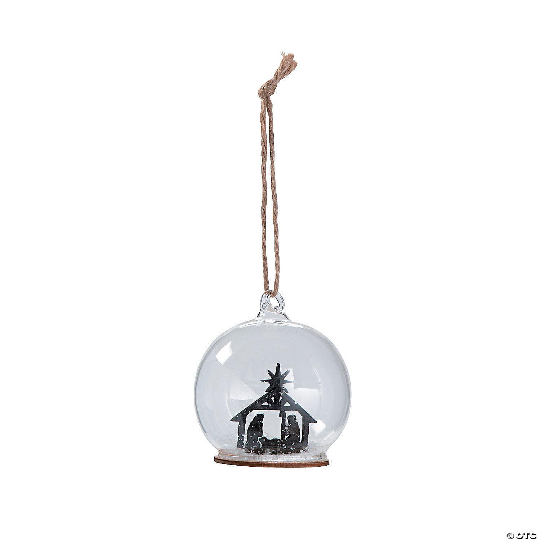 2020 Christmas Holiday Snowglobe Ornament Nativity Snow Globe Ornaments   Oriental Trading
