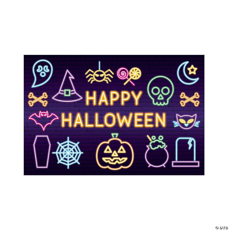 Neon Lights Backdrop Halloween Decoration