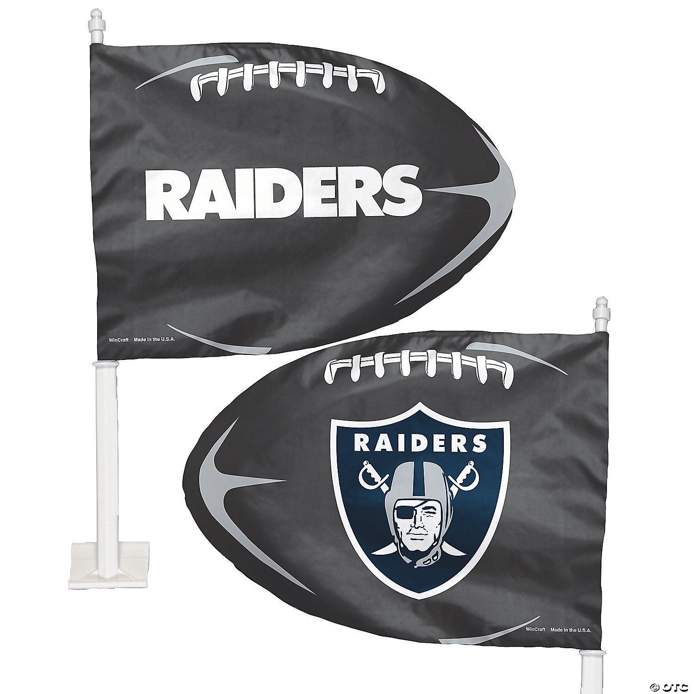Nfl Las Vegas Raiders Car Flag 11 3 4 X 14 Oriental Trading