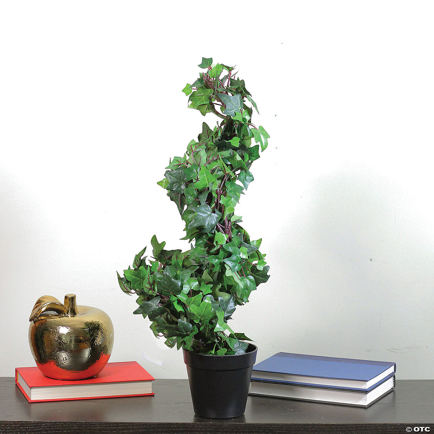 Northlight 1 8 Green And Black Potted Ivy Spiral Topiary Artificial Christmas Tree Unlit Oriental Trading