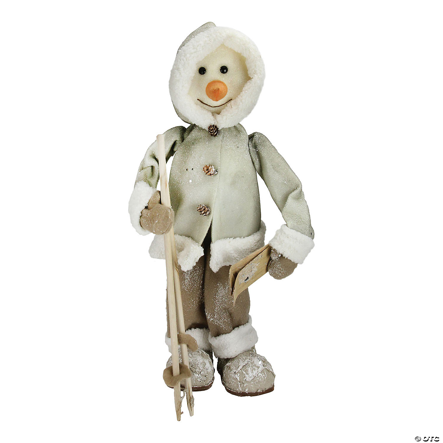Northlight 21 5 White And Brown Skiing Snowman Christmas Figure Decoration Oriental Trading