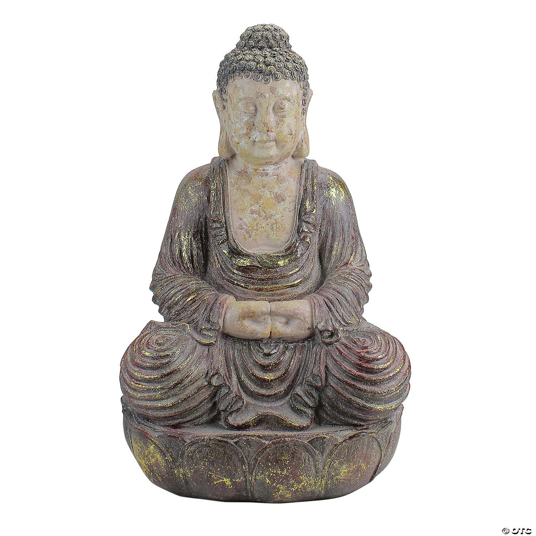 Northlight 22 Brown And Beige Meditating Buddha Outdoor Garden Statue Oriental Trading