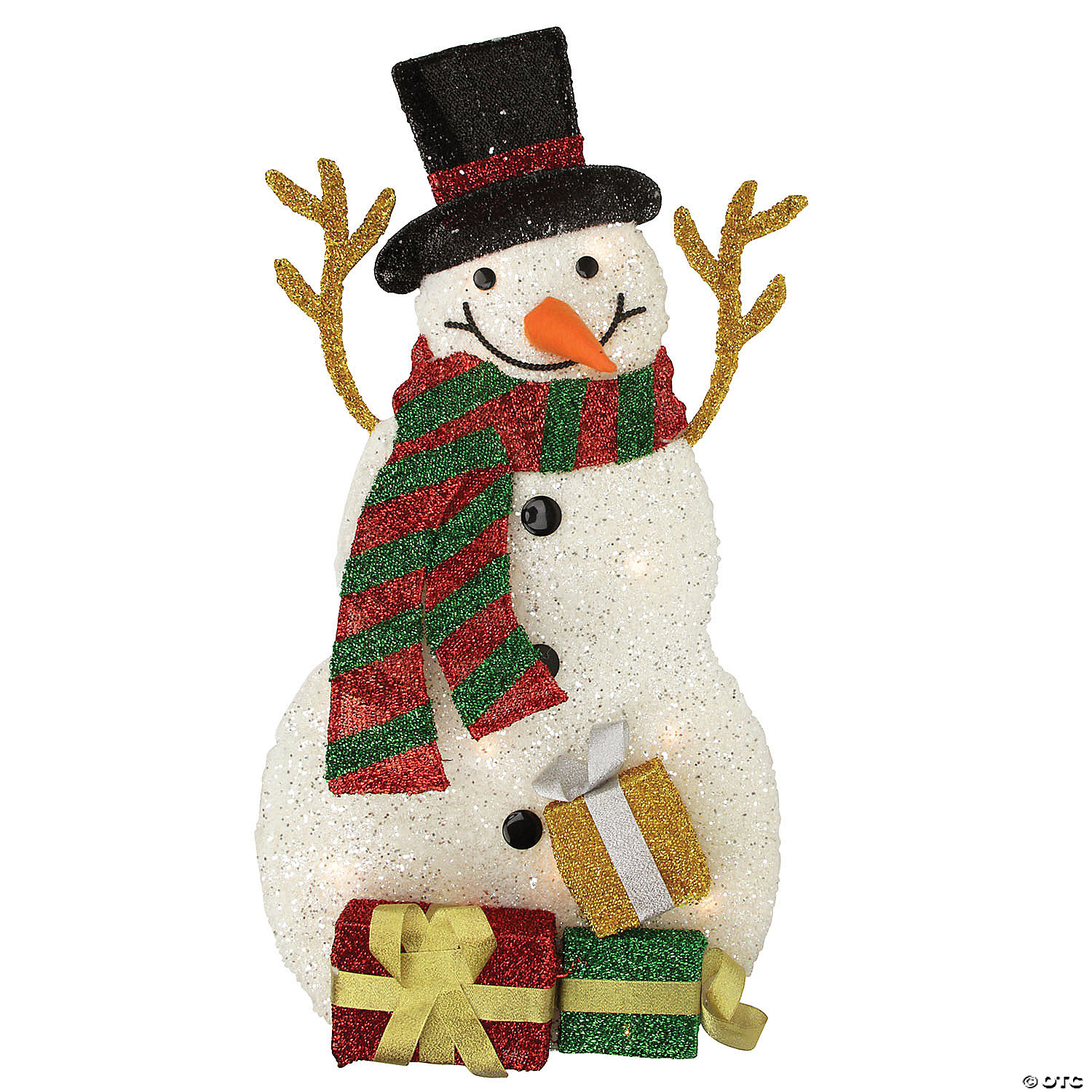 Northlight 31 Pre Lit White And Black Snowman With Gifts Outdoor Christmas Decor