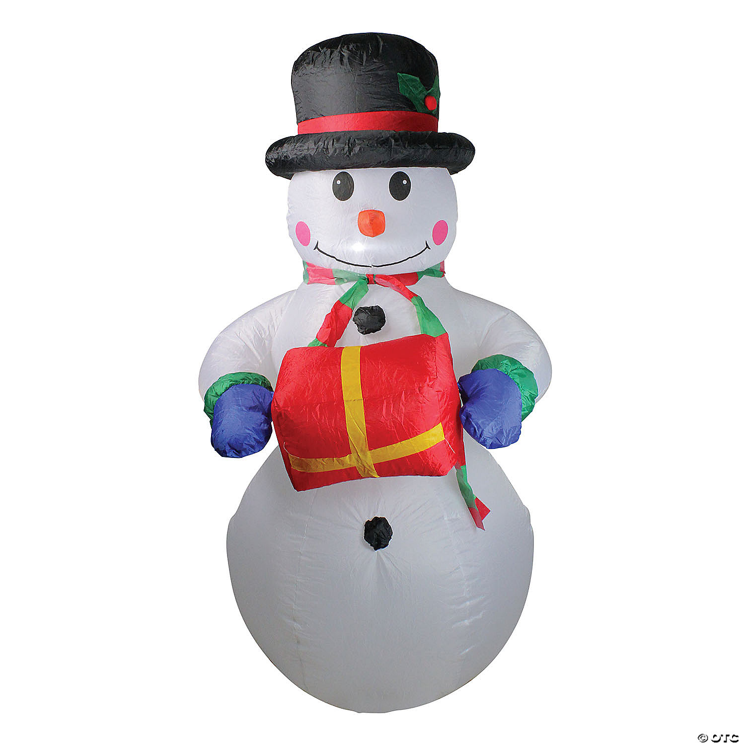 Northlight 5 Pre Lit White And Red Inflatable Lighted Snowman Outdoor Christmas Decor