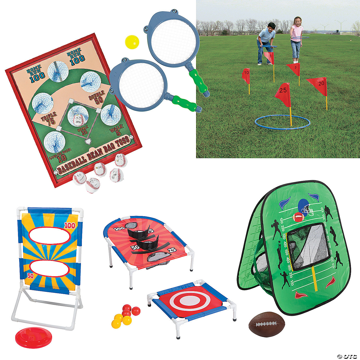39-Piece Oriental Trading Outdoor Game Kit