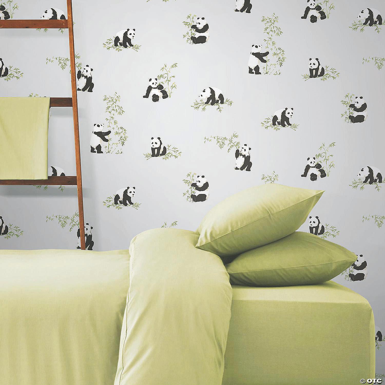 panda peel and stick wallpaper blue~13955725