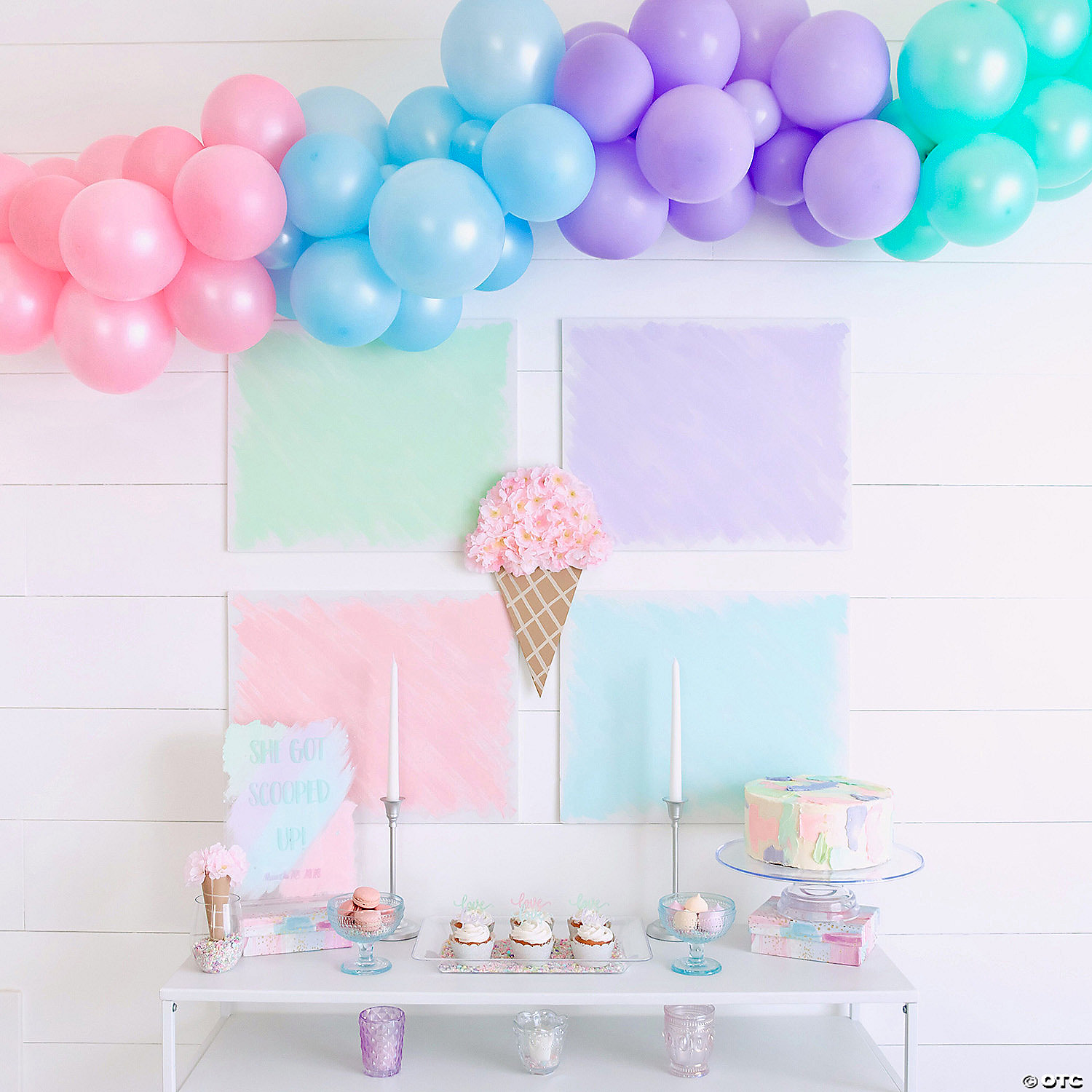 Pastel Balloon Garland Kit 25 Ft Oriental Trading