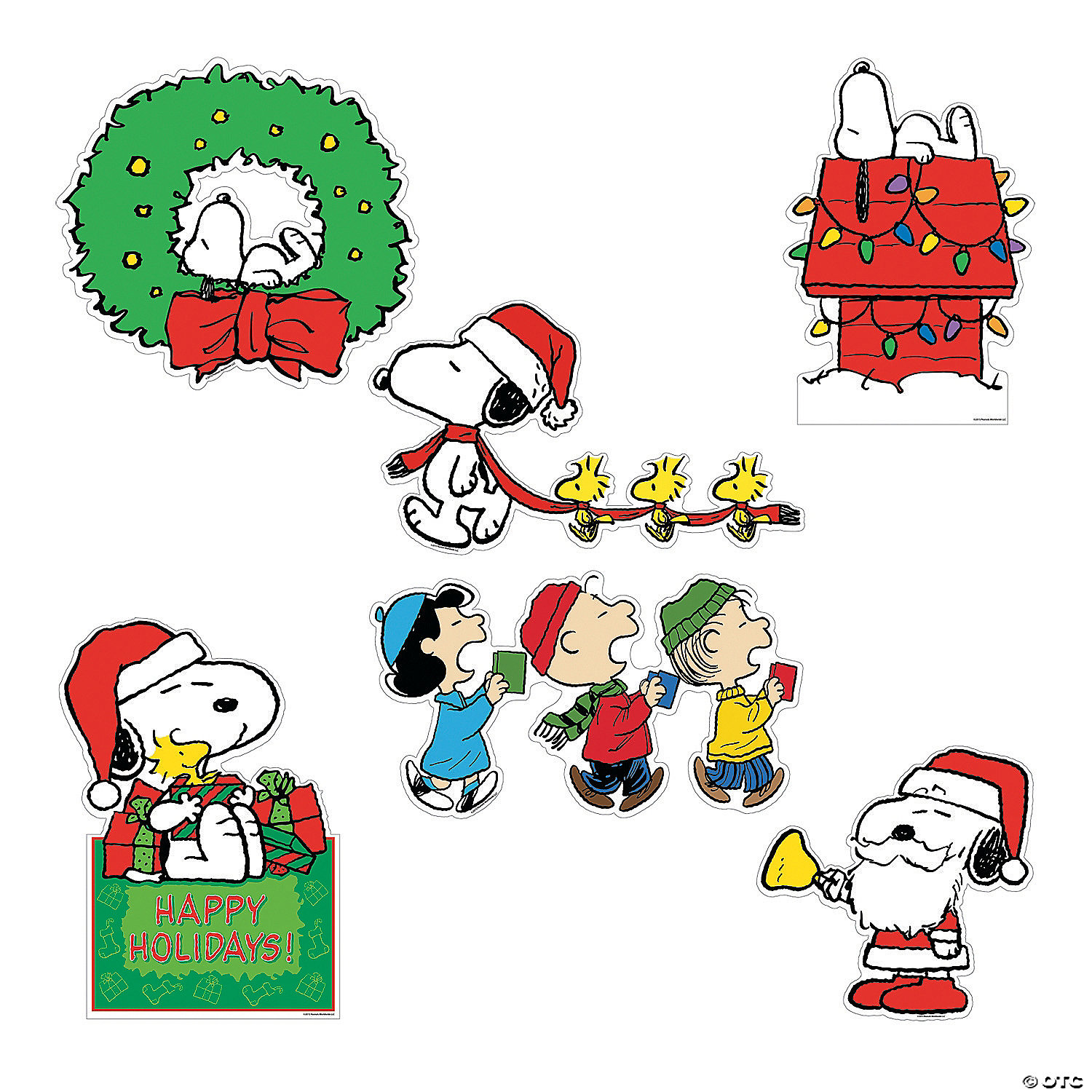It is an image of Vibrant Printable Christmas Decorations ( Cutouts)