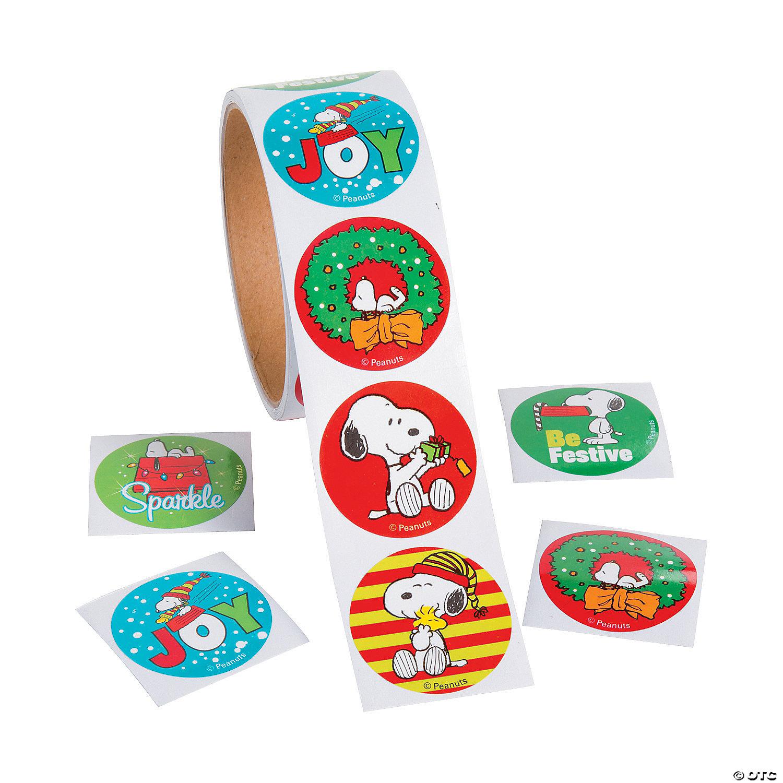 Christmas Stickers.Peanuts Christmas Stickers