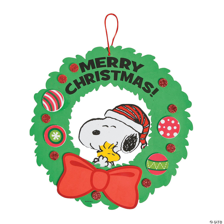 Peanuts Christmas Wreath Craft Kit Oriental Trading