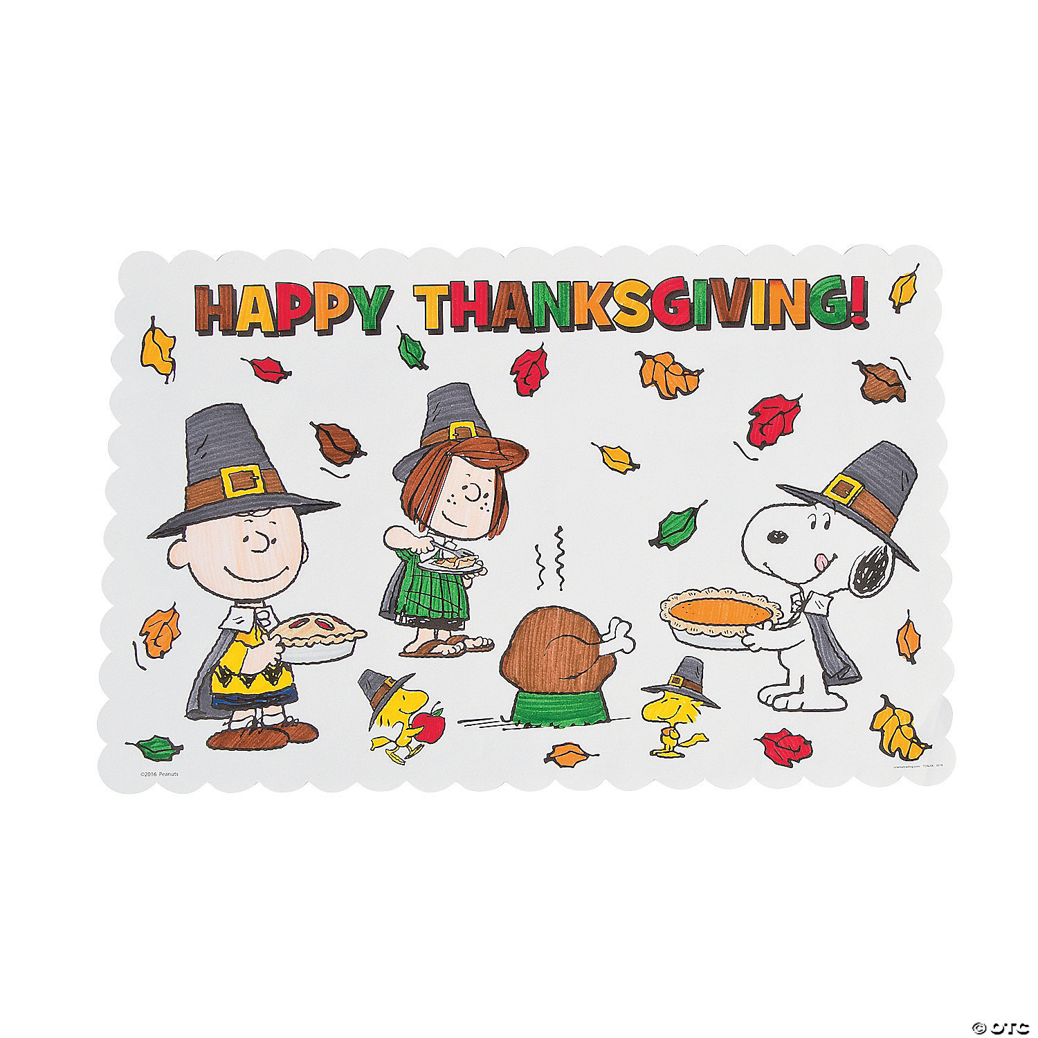 Peanuts<sup>®</sup> Color Your Own Thanksgiving Placemats
