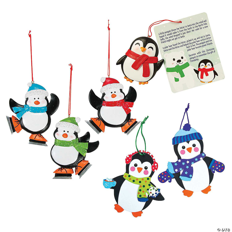 Penguin Christmas Ornament Assortment