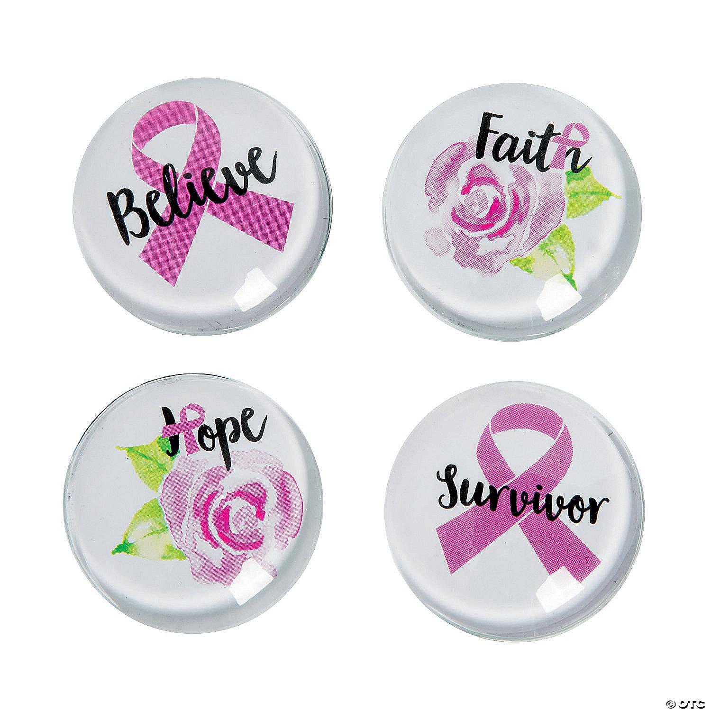 breast cancer pink ribbon magnet
