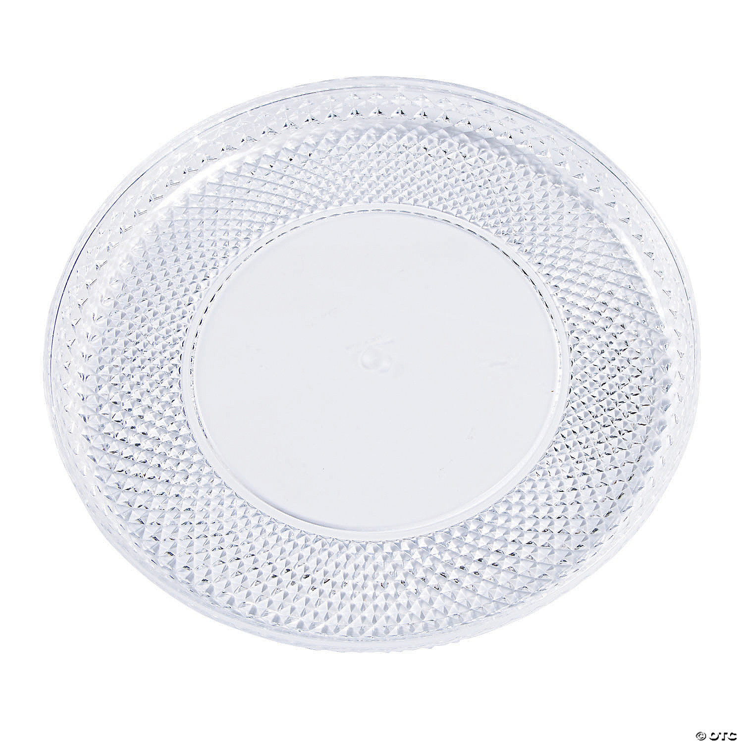 Premium Round Plastic Serving Tray With Diamond Cut Edging Large Oriental Trading