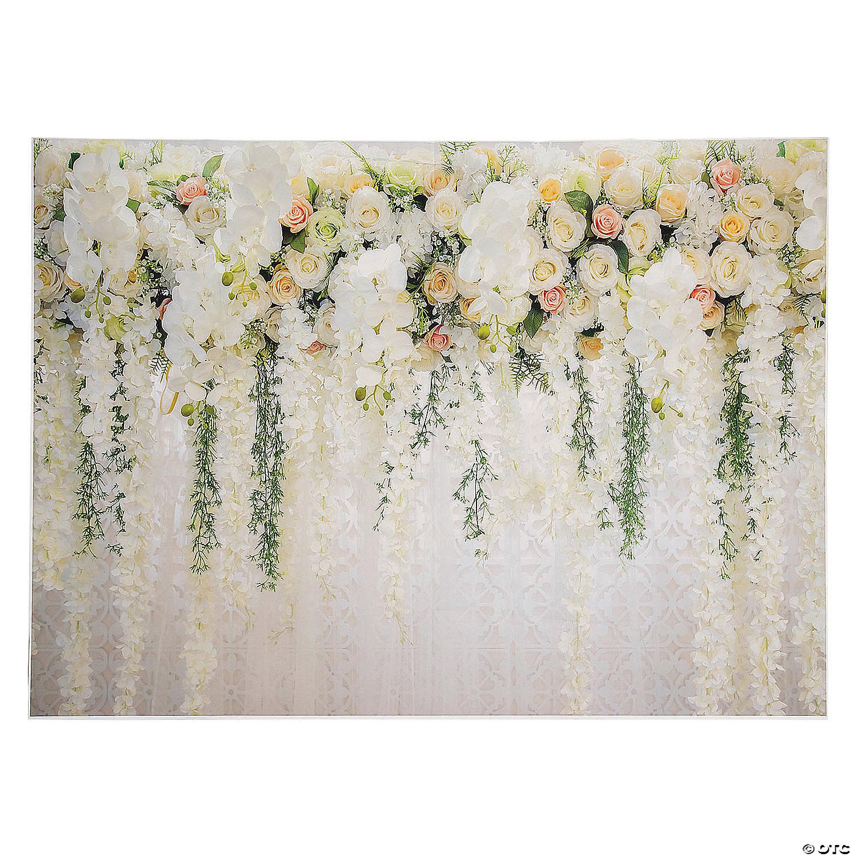 Premium White Floral Wedding Backdrop