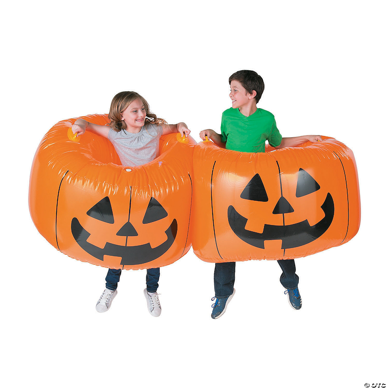 Pumpkin Inflatable Body Bopper Set
