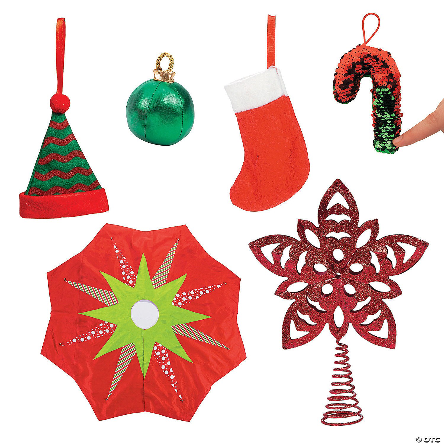 Red Green Christmas Tree Decorating Kit Oriental Trading