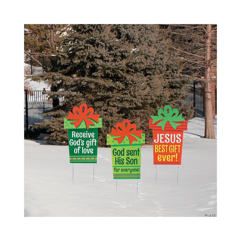 Religious Christmas Images.Religious Christmas Gift Yard Stakes