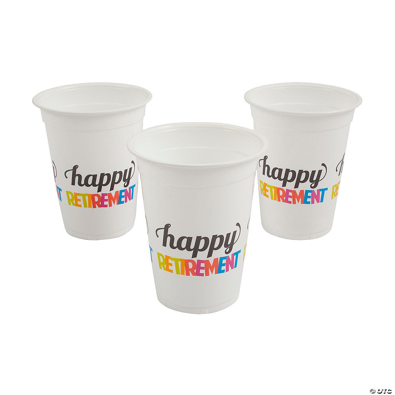 Retirement Plastic Cups Oriental Trading