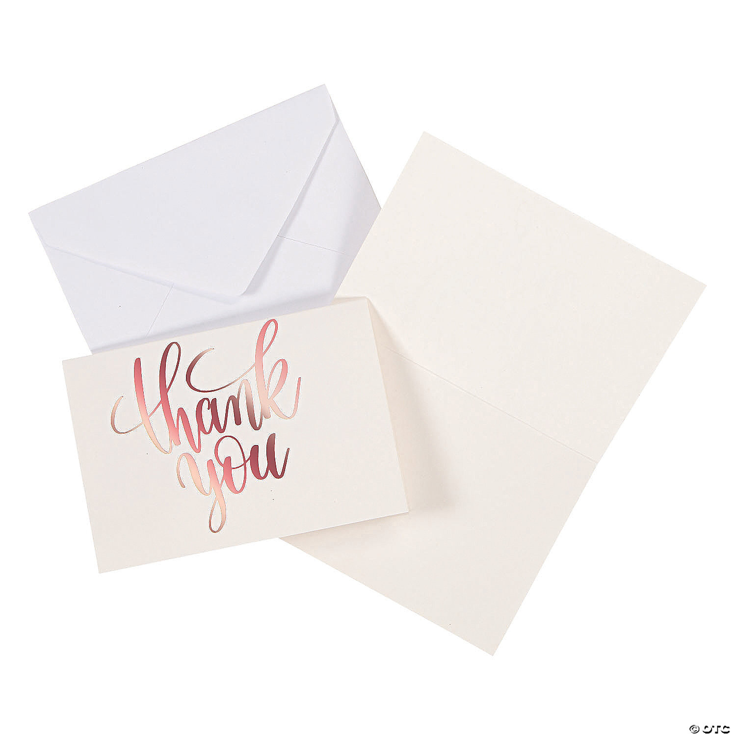 Rose Gold Thank You Cards Oriental