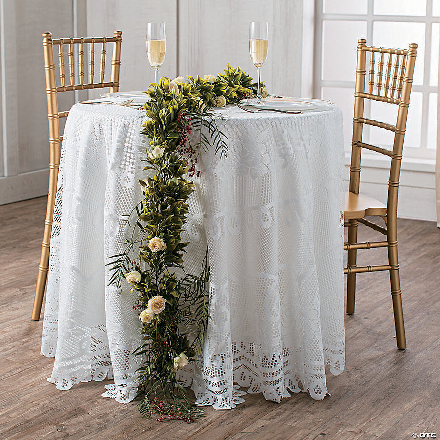 Round White Lace Tablecloth Oriental, Round White Tablecloth