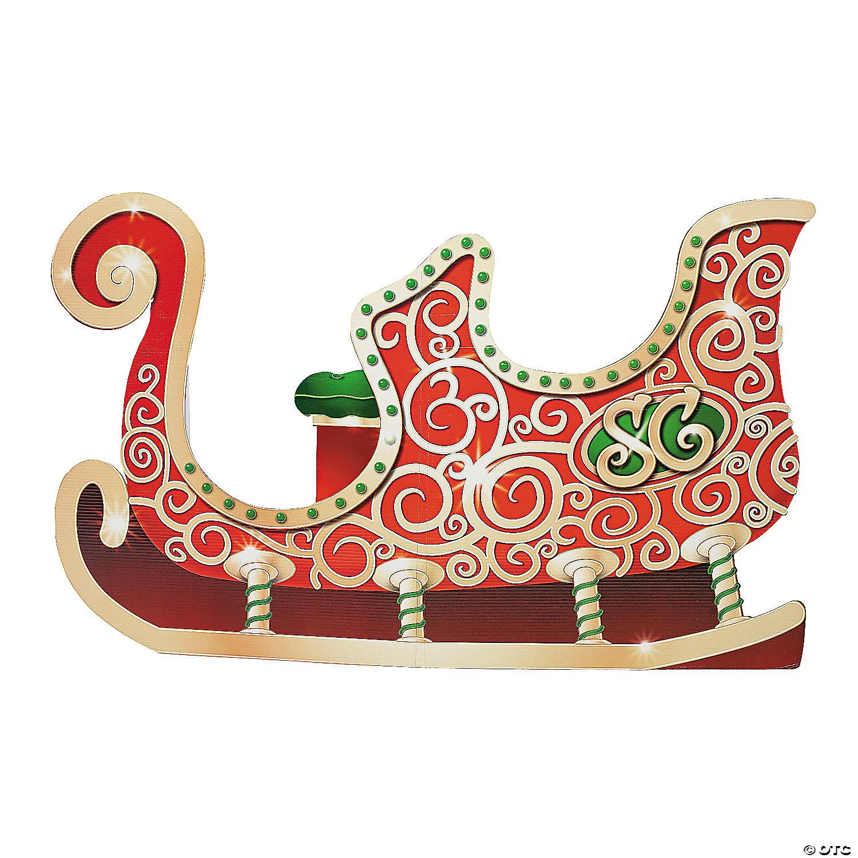 Santa s Sleigh Cardboard Stand Up