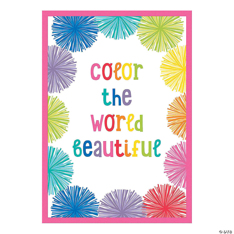 Schoolgirl Style Hello Sunshine Color World Poster Oriental Trading