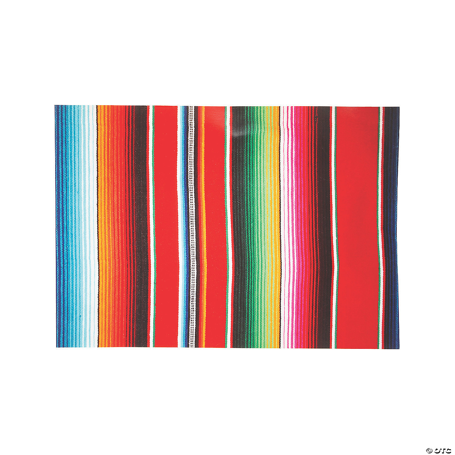 Fiesta Serape Print Paper Table Runner Fiesta Mexican International Decoration