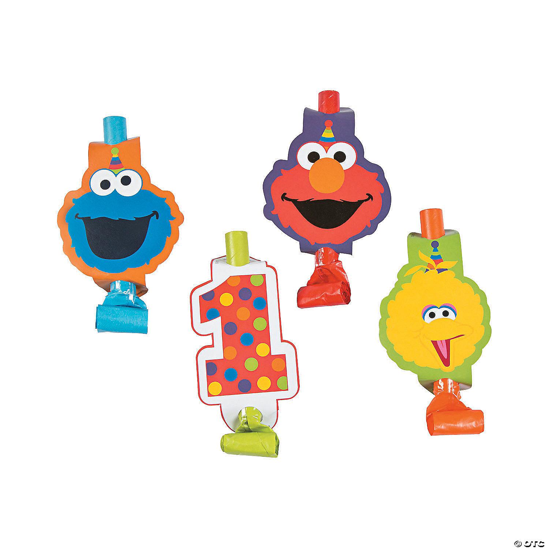 Birthday Party Supplies Favors Elmo Big Bird SESAME STREET Stars Blowouts 8