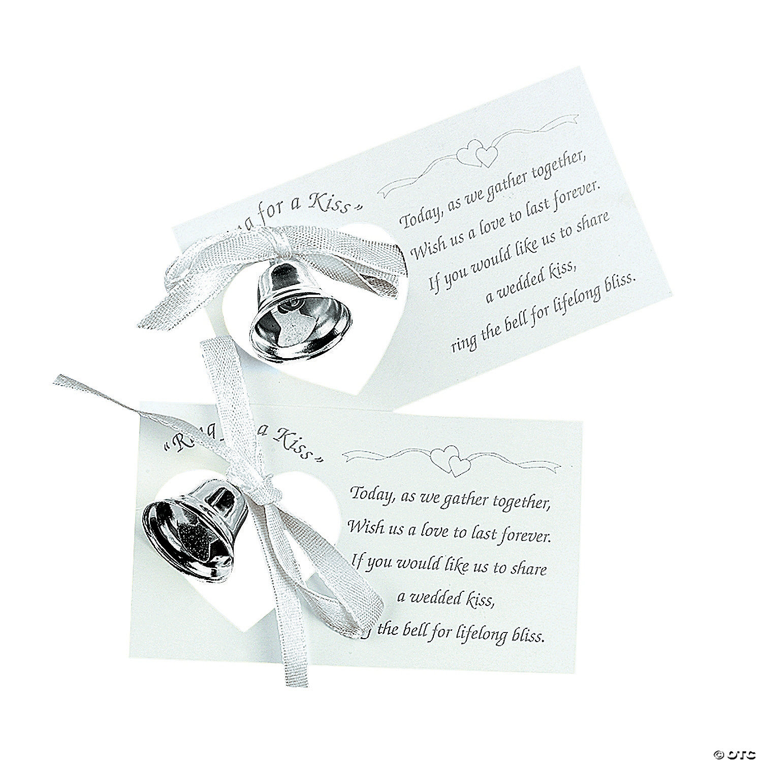 Silvertone Wedding Bells On Place Cards Oriental Trading