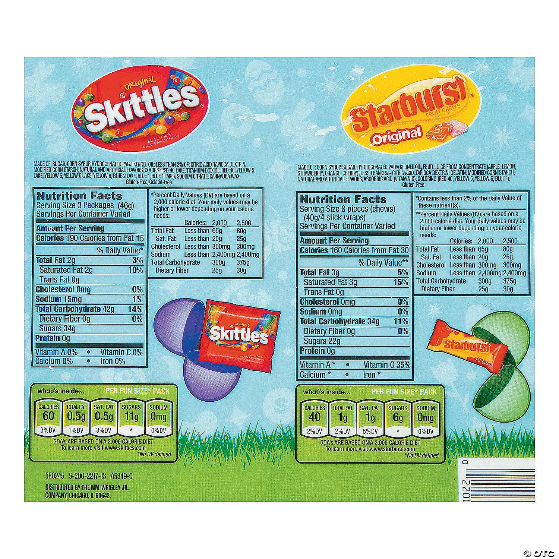 Skittles® & Starburst® Filled Plastic Easter Eggs