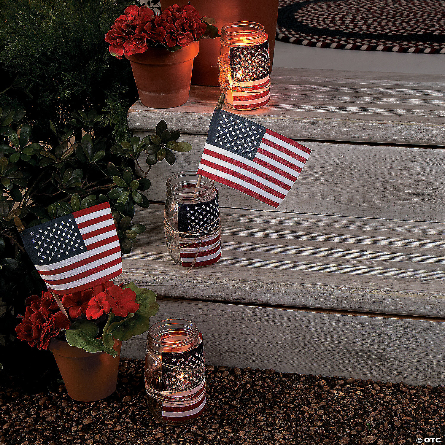 951bab958dc3 Small Cloth American Flags on Wooden Sticks - 6