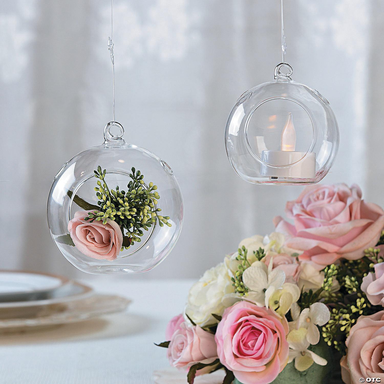 Small Round Hanging Globes