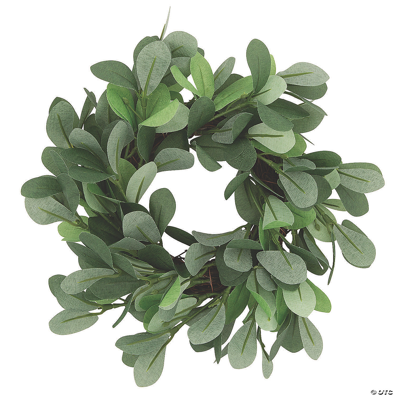 Small Silver Dollar Eucalyptus Wreath Oriental Trading