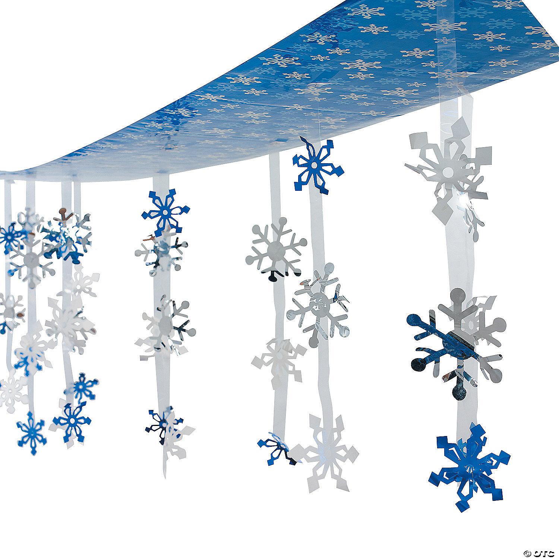 Snowflake Christmas Festive Door Curtain Hanging Wonderland Party Decoration