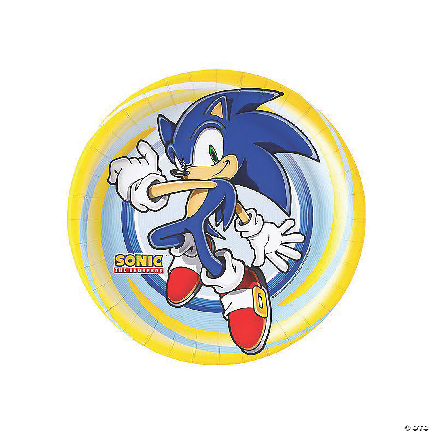 Sonic The Hedgehog Paper Dinner Plates 8 Ct Oriental Trading