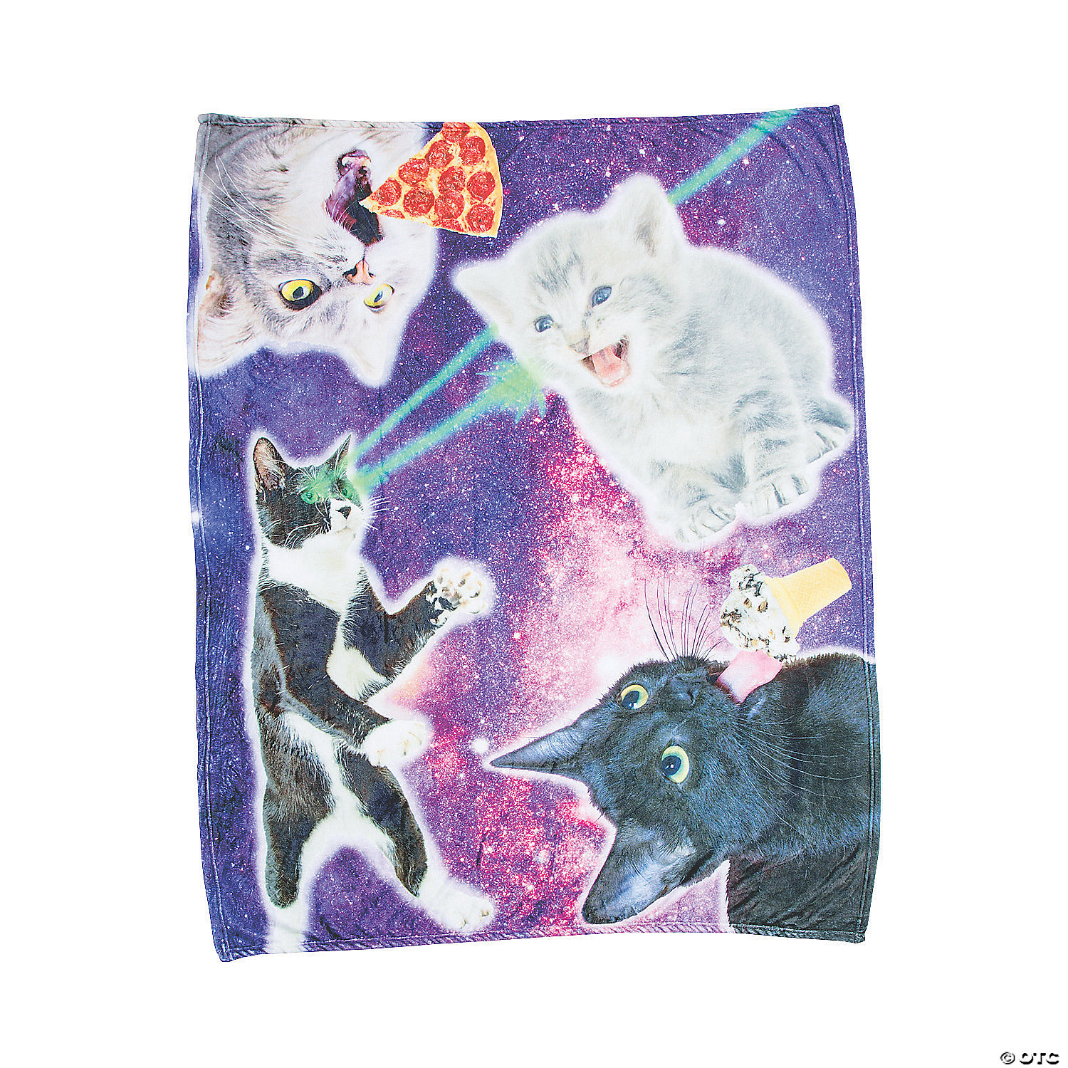 Space Cat Fleece Throw Oriental Trading