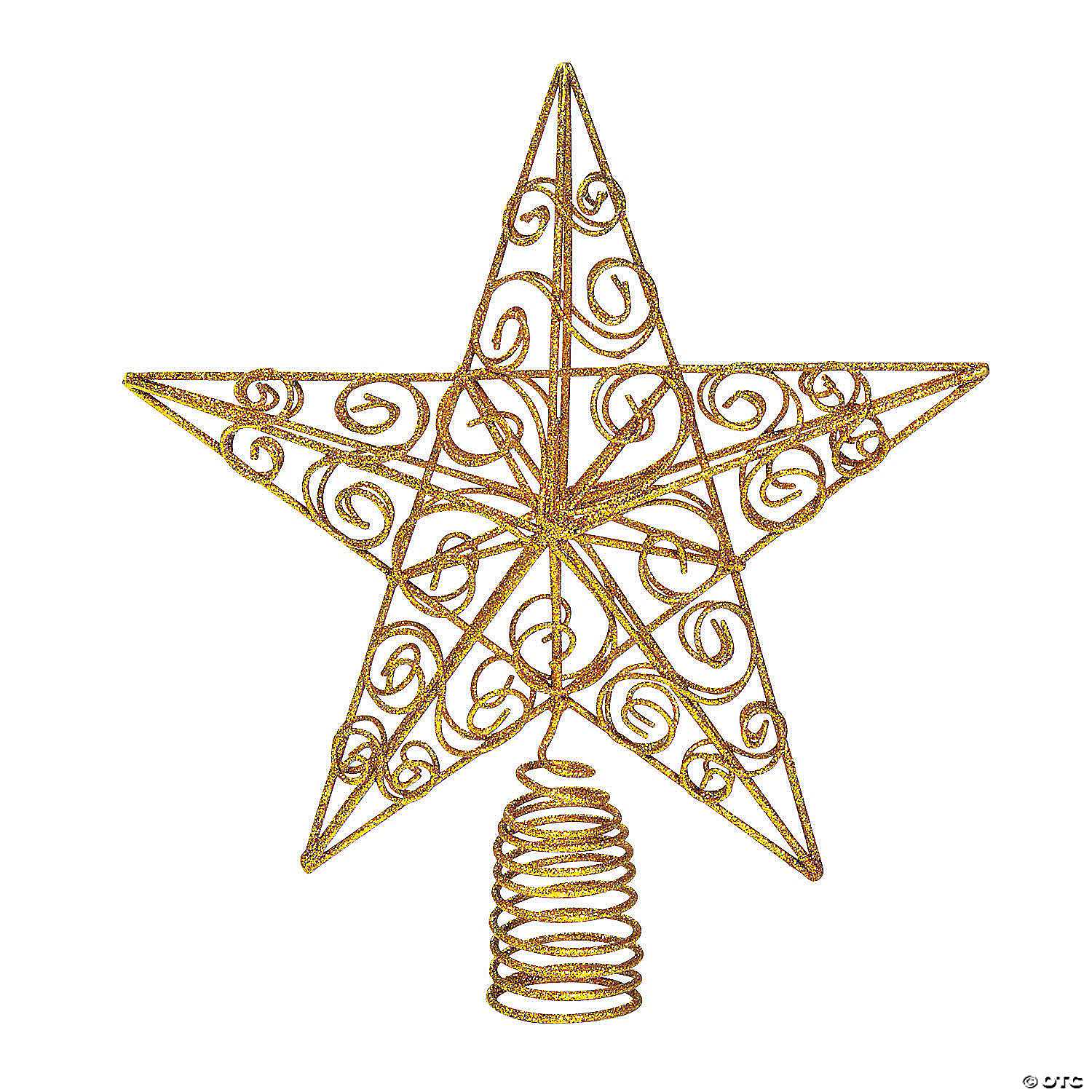 Christmas Tree Topper.Sparkly Gold Star Christmas Tree Topper